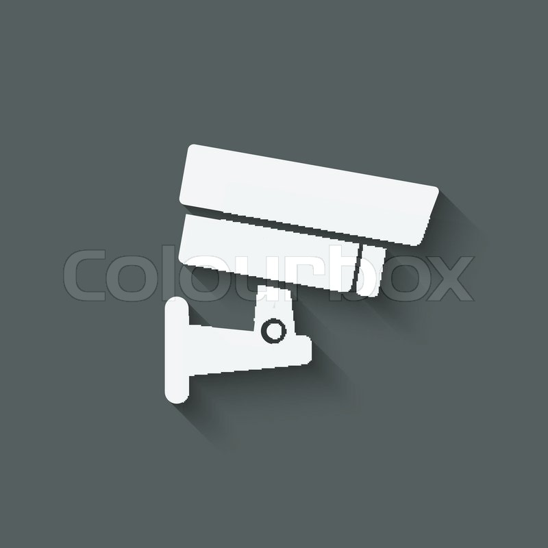 Security Camera Symbol Vector Illustration Eps 10 Stock Vector