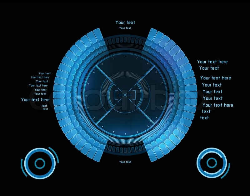 blue futuristic infographics as head