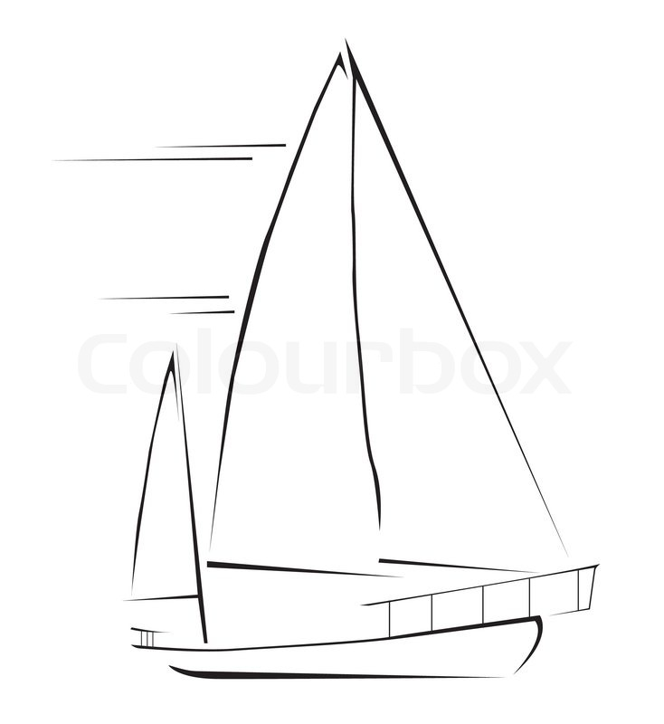 Stock vector of 'Sailing boat'