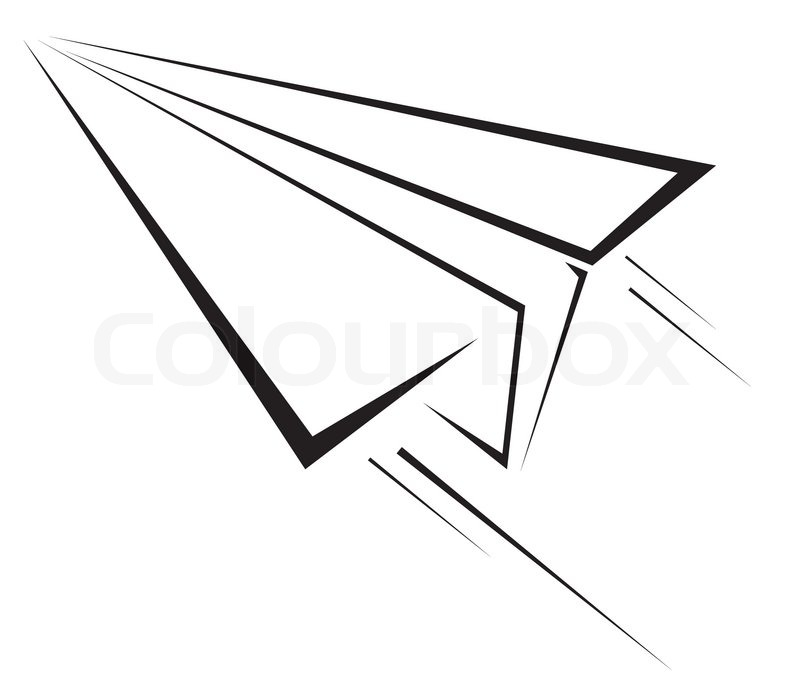 paper plane symbol stock vector colourbox rh colourbox com paper airplane vector freepik paper airplane vector freepik