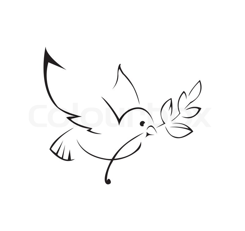 Dove Of Peace Simple Symbol Stock Vector Colourbox