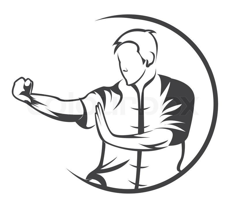 Martial art symbol | Stock Vector | Colourbox