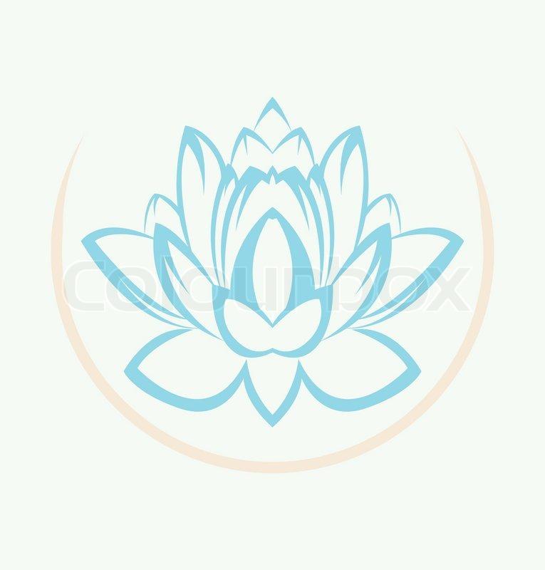 Lotus Flower Symbol Stock Vector Colourbox