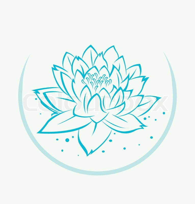Lotus flower symbol stock vector colourbox mightylinksfo