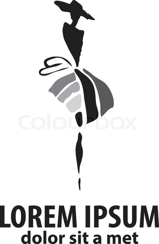 Fashion Woman Silhouette Isolated On Stock Vector Colourbox