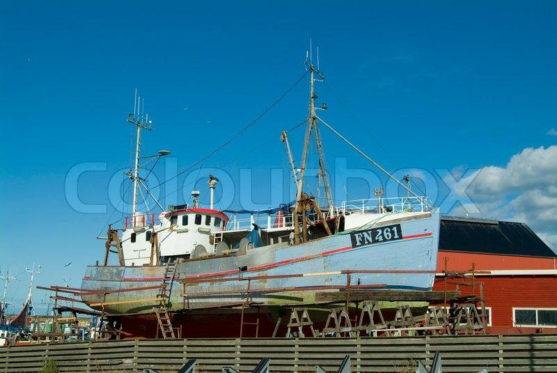 Scandinavia, port, picturesque, seaside, vessel, small, ship, summer, north, fishing, europe ...