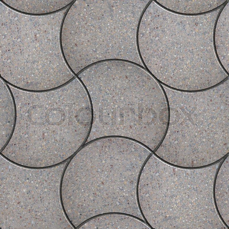 grey decorative wavy pavers seamless tileable texture stock