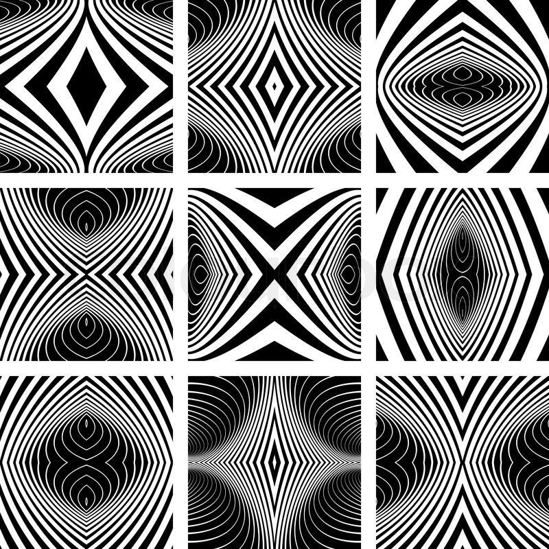 Design elements set Symmetric patterns Vector art Stock Vector