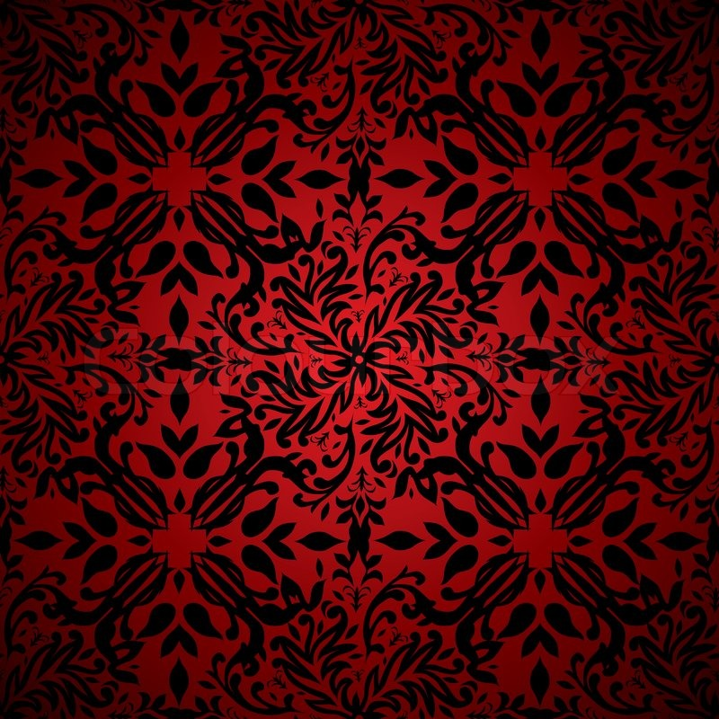 1167763 red and black floral inspired seamless background pattern