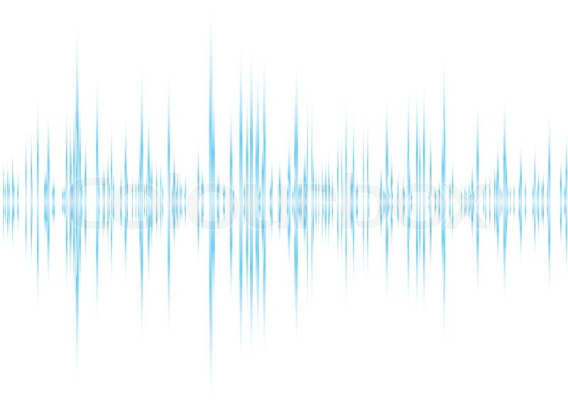 blue and white graphic equalizer background with peak graph stock