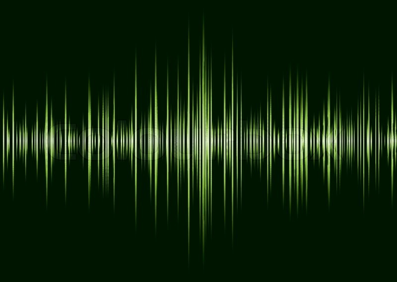 Black And Green Music Inspire Graphic Equalizer Wave And Black Background Stock Vector Colourbox