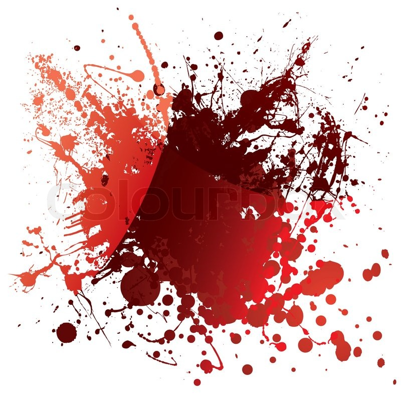 Abstract red blood background with     | Stock vector