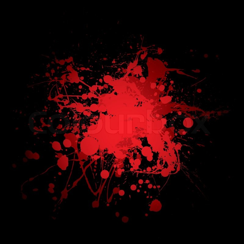 Abstract red and black blood spot with ink splats | Stock ...