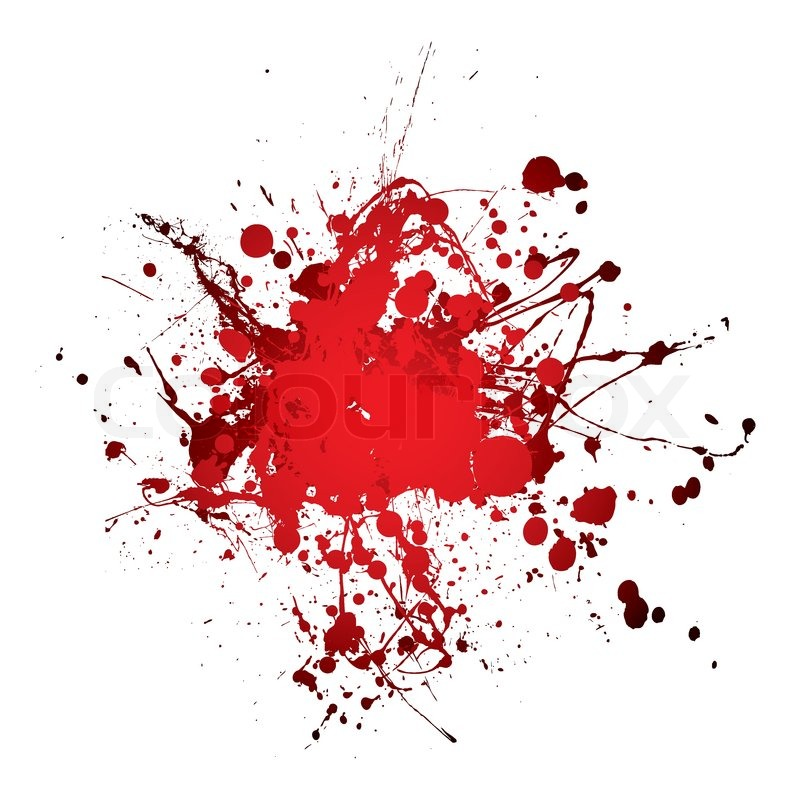 Grunge Blood Ink Splat Abstract Shape Stock Vector