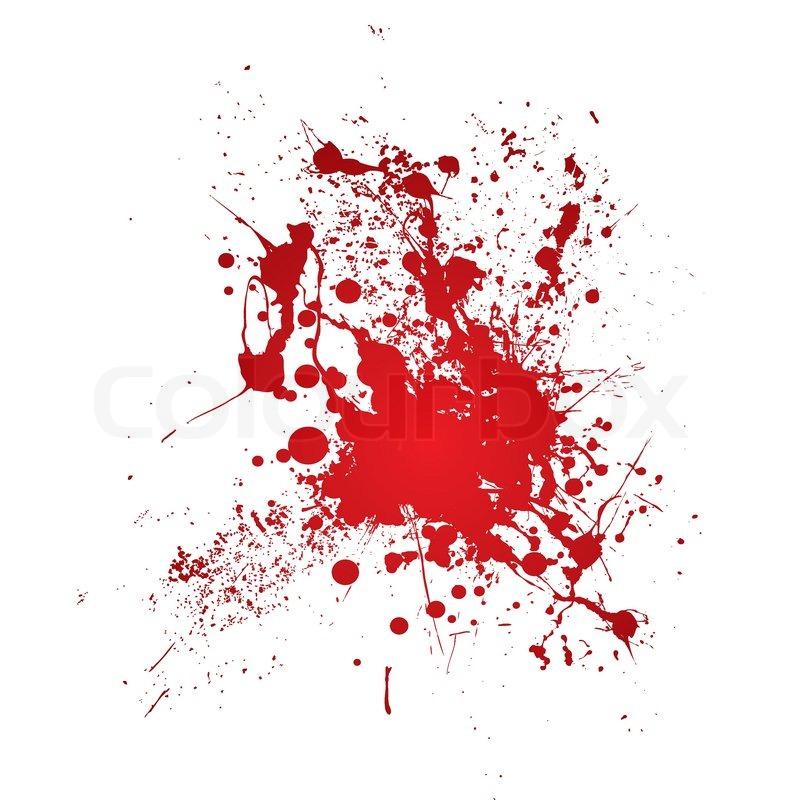 inky blut beize mit einer roten abstrakte form vektorgrafik colourbox. Black Bedroom Furniture Sets. Home Design Ideas