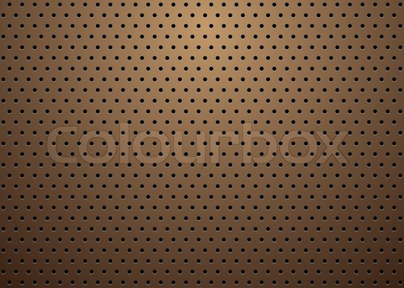 ... vector of 'Abstract bronze metal background with repeat hole design