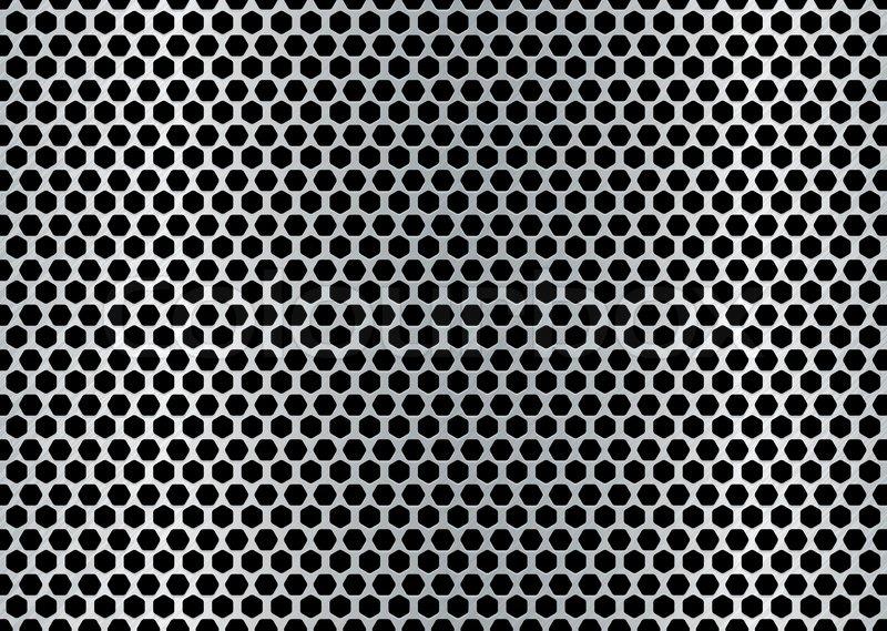 Silver Color Metal Jali Pattern : Metall gebürstet hintergrund mit ausgestanzten löchern und