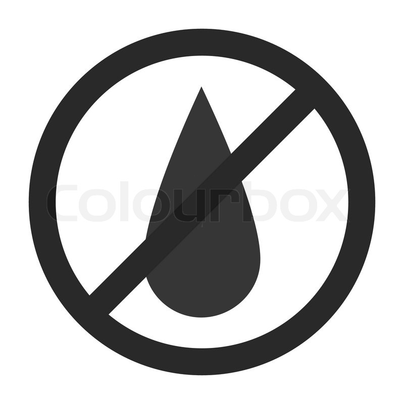 no water sign  vector illustration  simple pictogram
