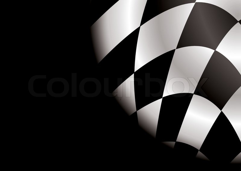 Checkered black and white flag ideal as a formula one background stock vector colourbox