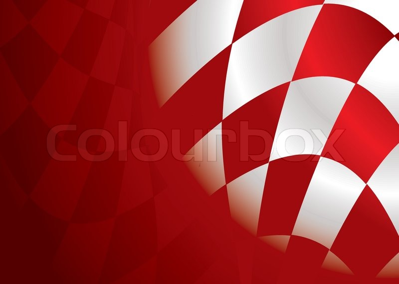 Red and white checkered flag background with room to add ...