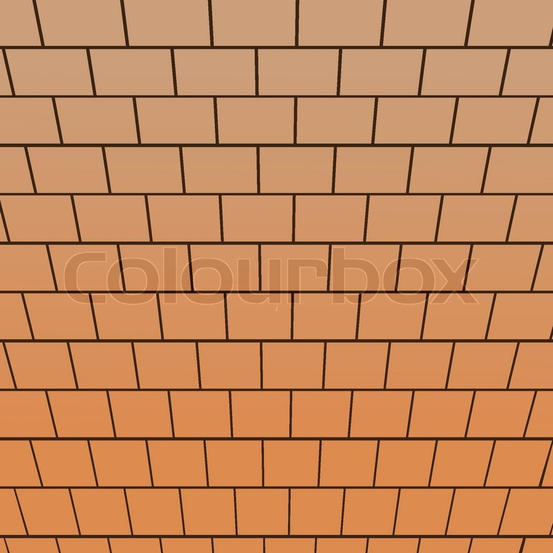 Brick Wall Top Down View Perspective Vector Background