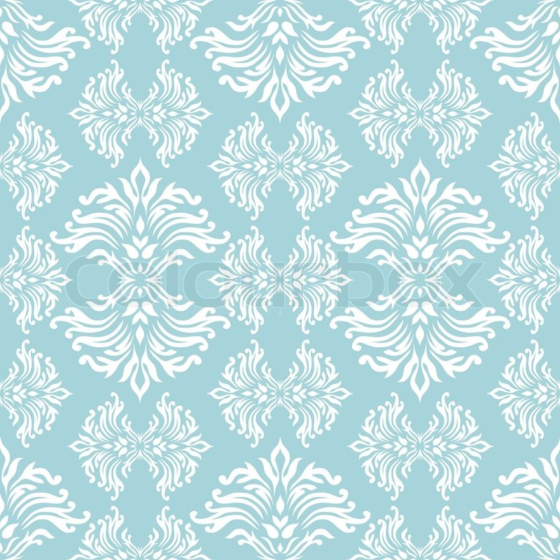 light blue floral background with flowing design that