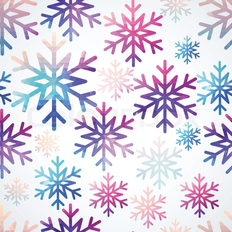 Vector Snowflakes Pattern Abstract Snowflake Of Geometric Shapes Mesmerizing Christmas Pattern Wallpaper