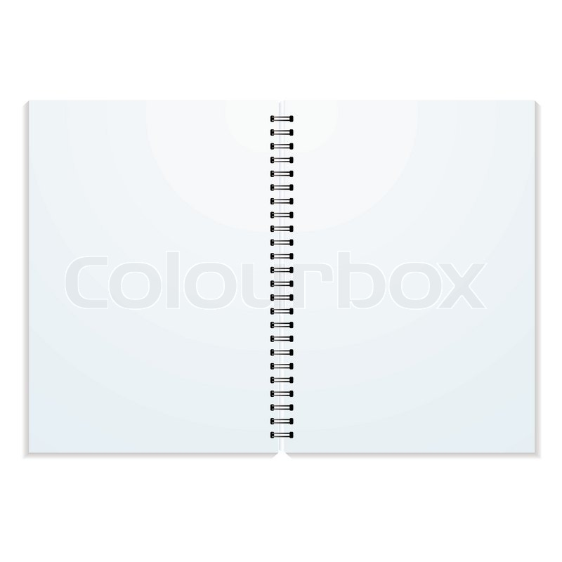 Stock vector of 'Blank double paged ring binder with drop shadow and copy space'