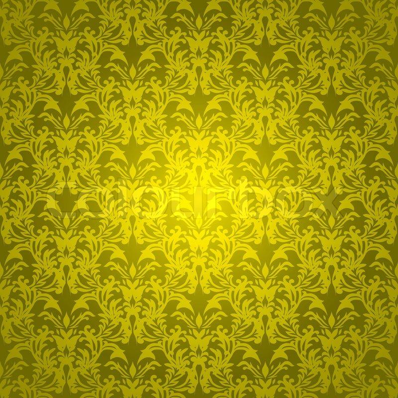 Golden Design Wallpaper : Golden yellow background with wallpaper design that