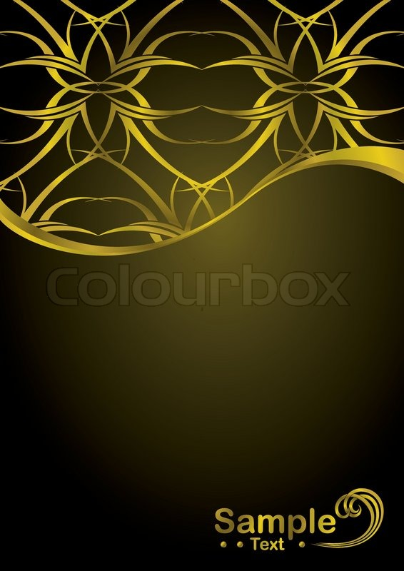 Gold And Black Background Design With Copy Space Tattoo Element