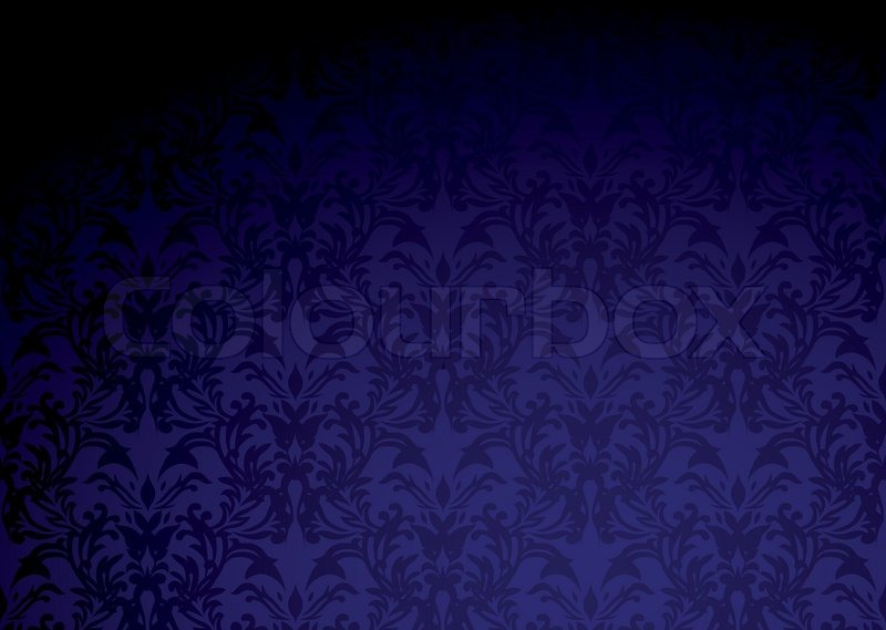 Classic Purple Wallpaper Pattern With Dark Shadow And Copy Space