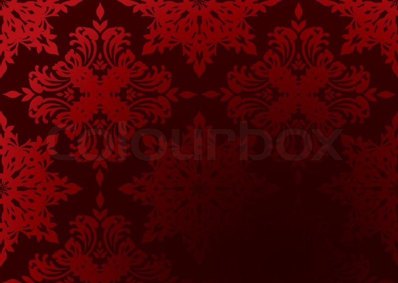 Bright Red Gothic Wallpaper With Gra Nt Design And Copy Space Stock Vector Colourbox