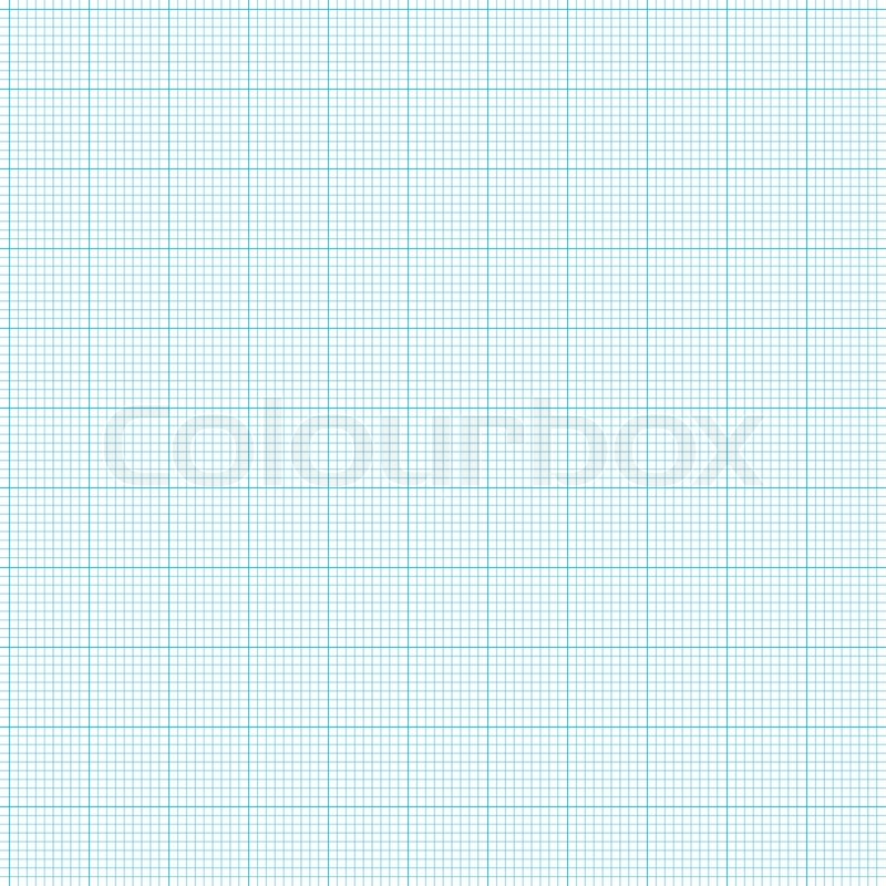 Blue Grid Graph Paper With Various Size Lines Stock