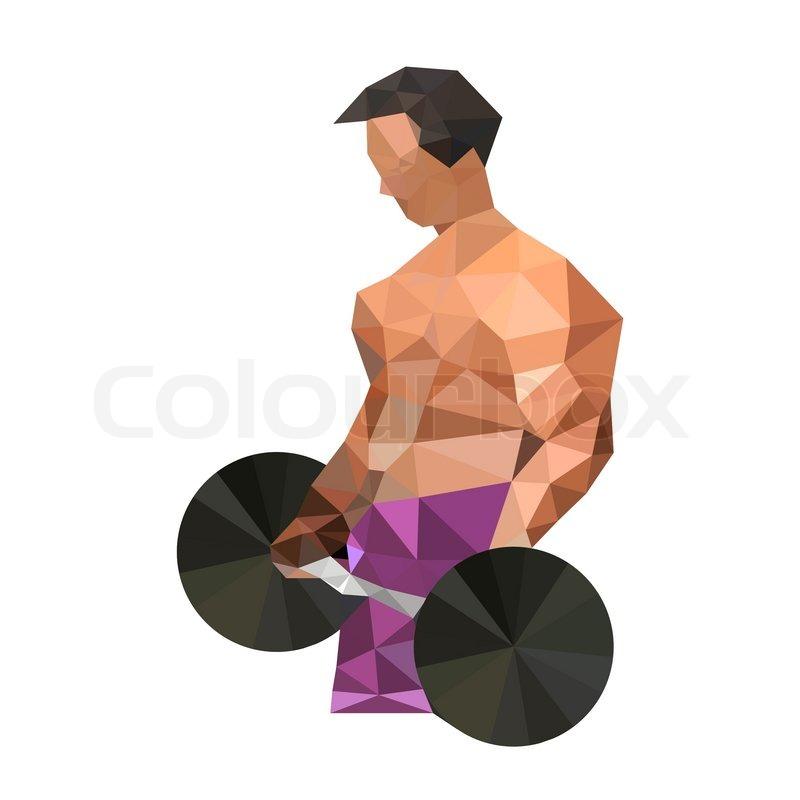 Illustration Of Origami Bodybuilding Man Vector