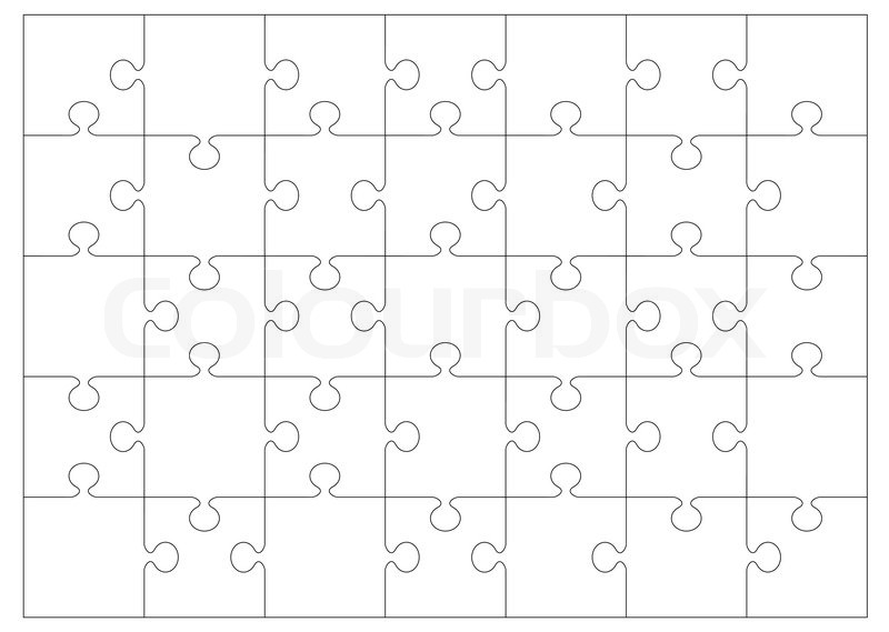 Black and white jigsaw or puzzle outline that you can overlay on to your own image or picture stock vector colourbox
