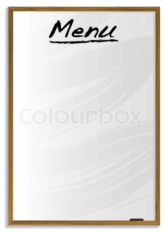 Schultafel clipart leer  Weiße Tafel leer Menü mit Platz für Ihren eigenen Text hinzufügen ...