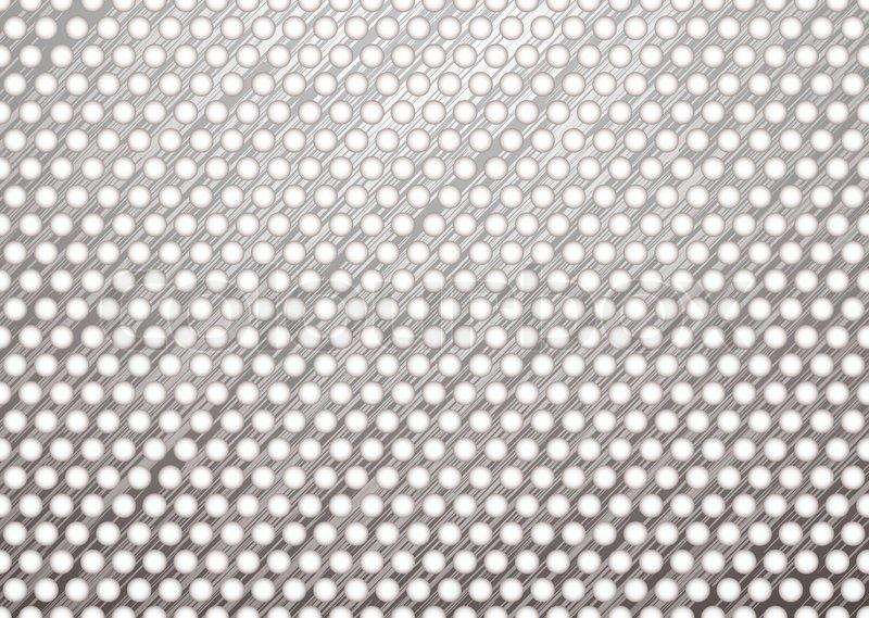 silber metall hintergrund mit geb rsteter oberfl che und wei e l cher vektorgrafik colourbox. Black Bedroom Furniture Sets. Home Design Ideas