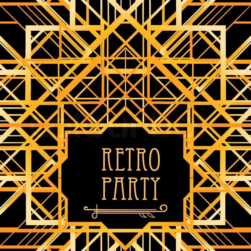Vintage Background Retro Style Frame Stock Vector Colourbox