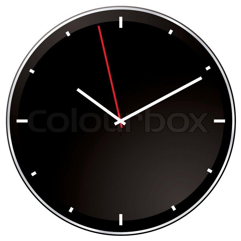 Moderne Uhr schwarze und weiße moderne uhr ohne ziffern vektorgrafik colourbox