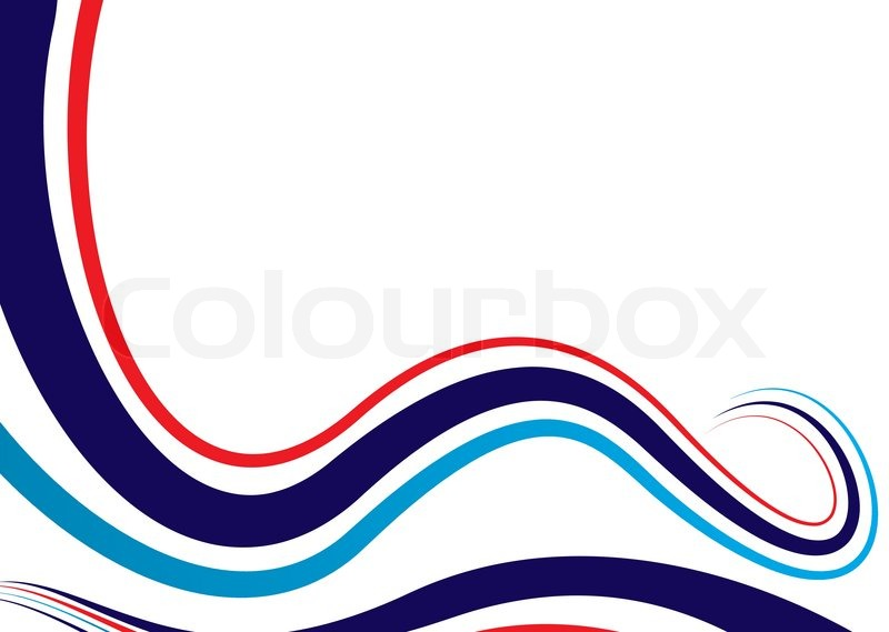 Vector of abstract flowing background with red white and blue colors