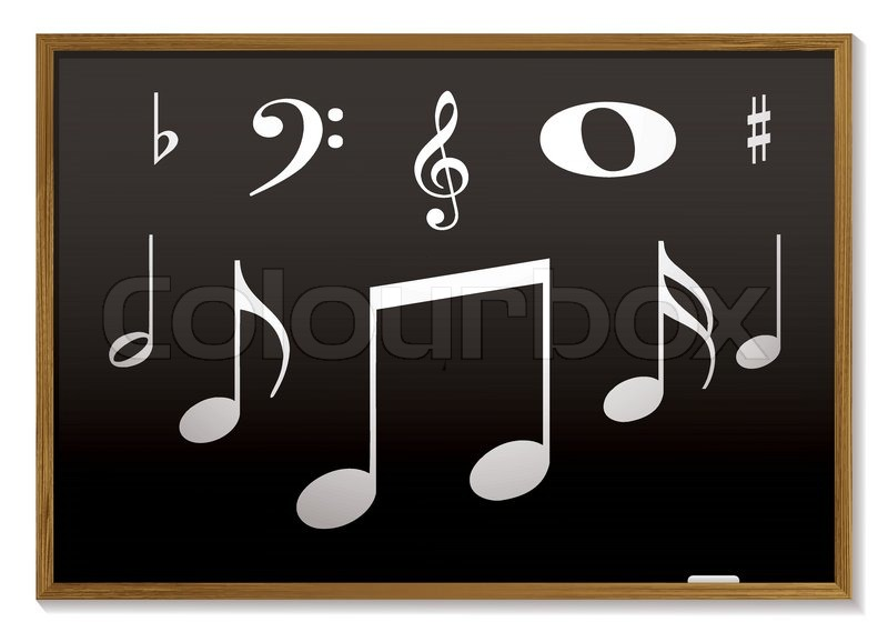 Music lesson inspired with musical       Stock vector