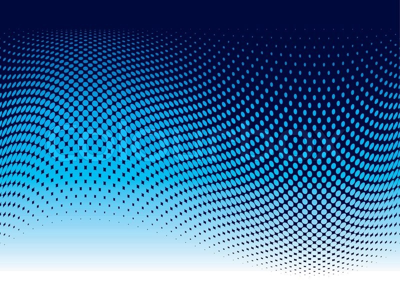 Abstract Ocean Wave Background In Blue Stock Vector