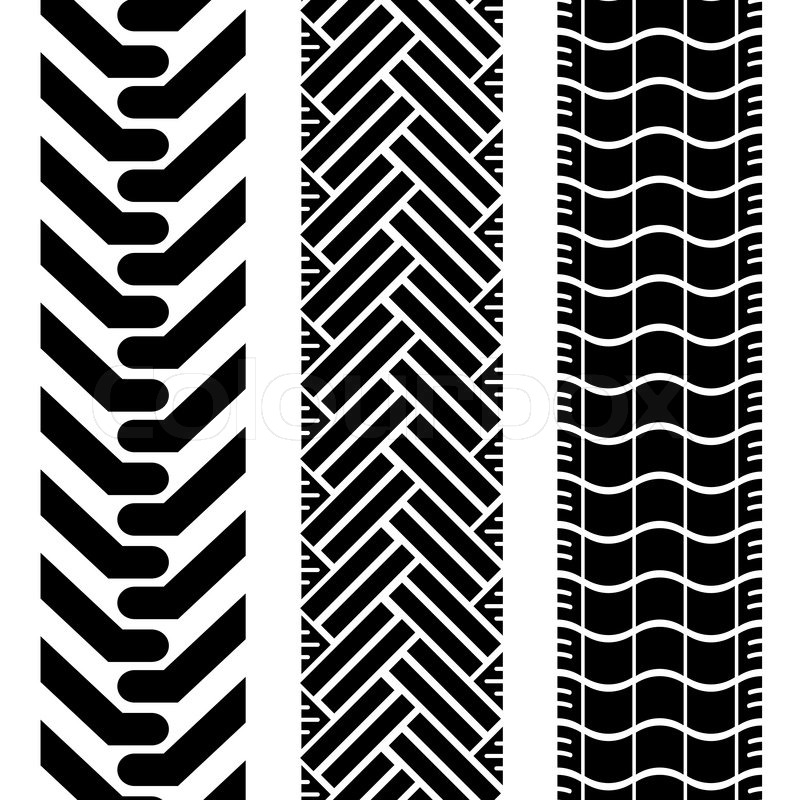 Collection Of Tire Treads In Black And White With Repeat Pattern Mesmerizing Tire Tread Patterns