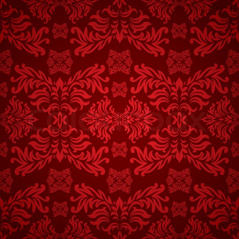 red and maroon floral background with stock vector