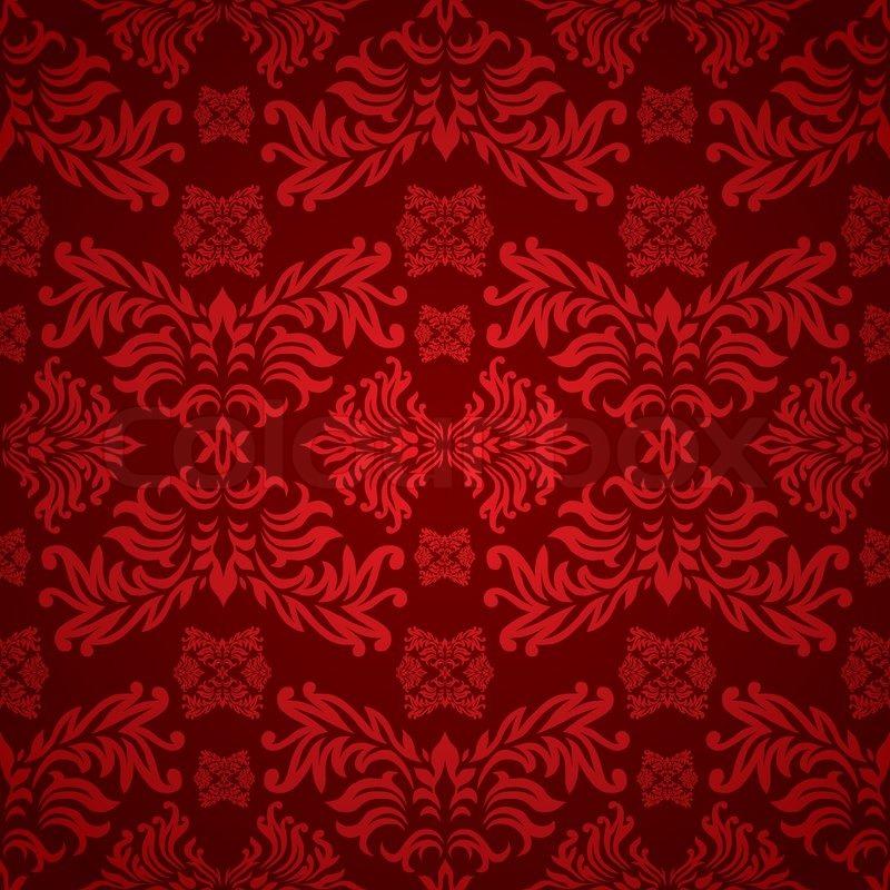 Rot Und Weinrot Blumen Hintergrund Mit Einem Nahtlosen