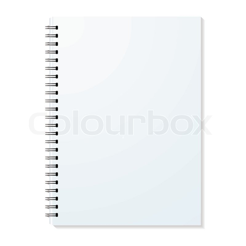 blank ring binder with shadow and stock vector