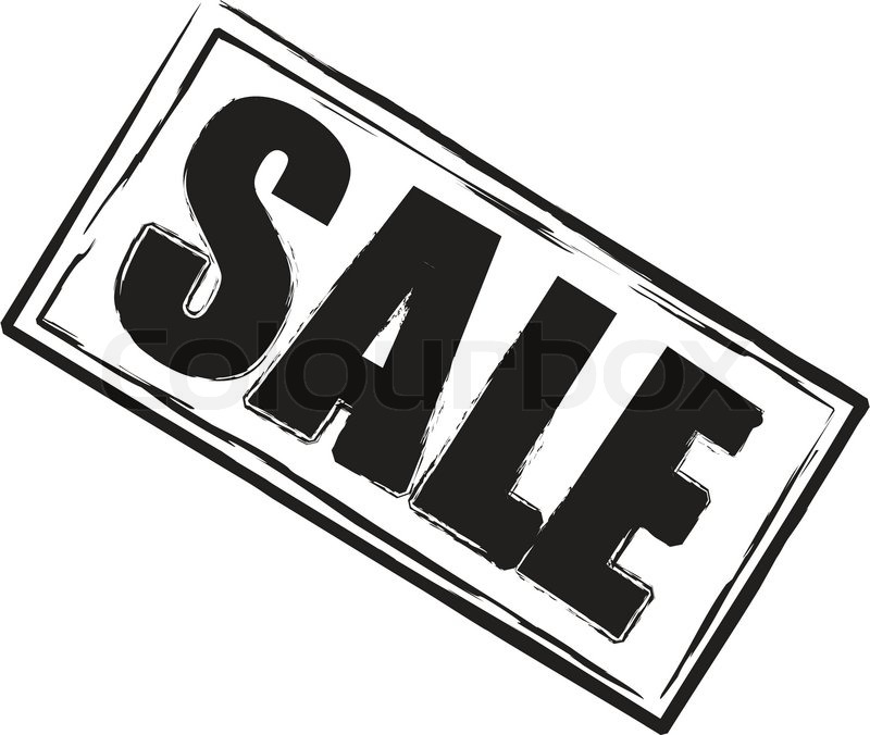 A sale stamp in black and white oblong shape stock for Old black and white photos for sale