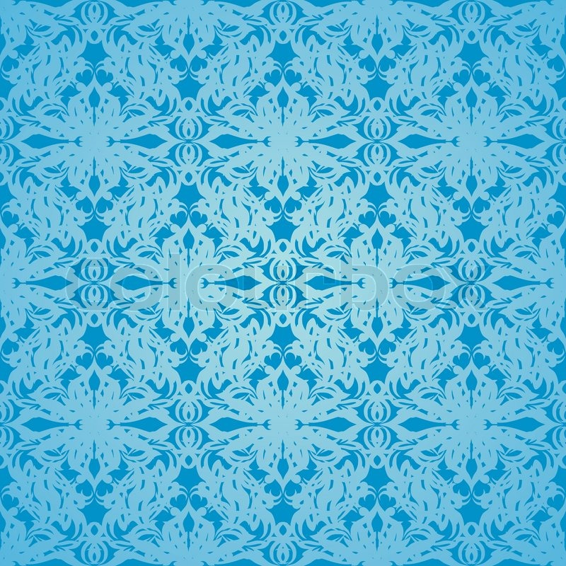 Classy Blue Wallpaper Background With Stock Vector