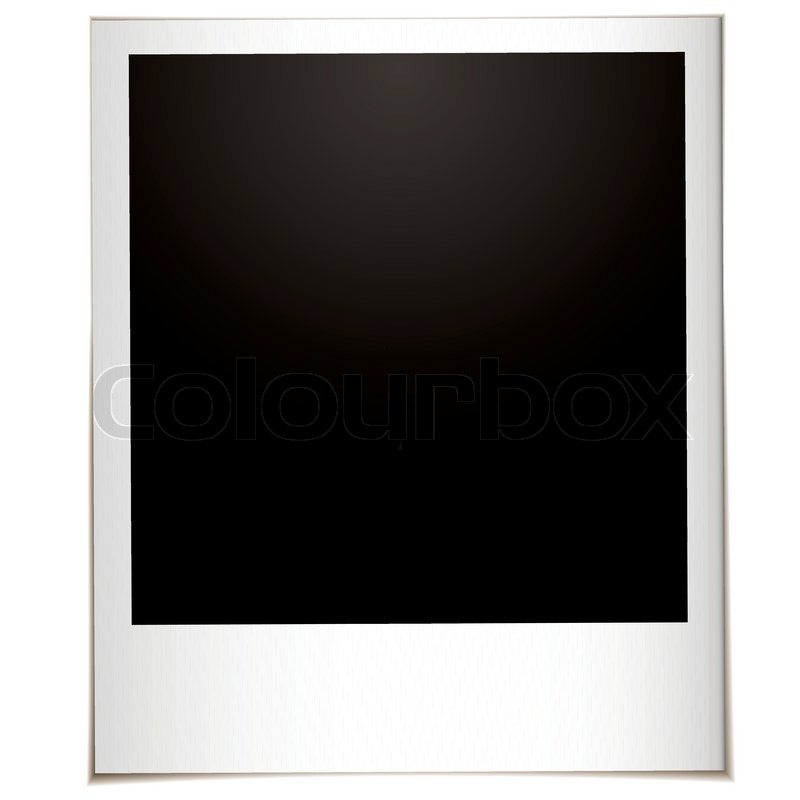 Single instant photograph with white border and space for your own ...