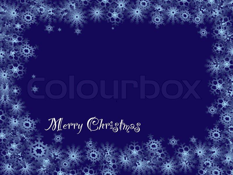 Königsblaue Weihnachten Hintergrund mit Schneeflocke Grenze und ...